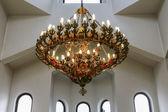 Antique pending lamp in church — Stock Photo