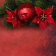 Red christmas ball decoration — Stock Photo #59177065