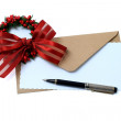 Christmas decorated greeting card — Stock Photo #59205385