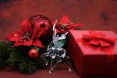 Closeup of luxurious christmas decorations — Stock Photo