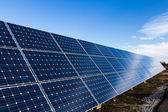 行的太阳能电池板 — 图库照片