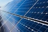 Solar panels, closeup — 图库照片