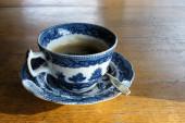 Zdobione filiżanki kawy — Zdjęcie stockowe