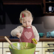 Little toddler cooking — Stock Photo #61711315