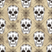 Pattern with skulls. — Stock Vector