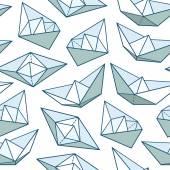 Barcos de papel — Vector de stock