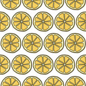 Pattern with yellow lemons — Stock Vector