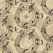 Motivo musica con note — Vettoriale Stock