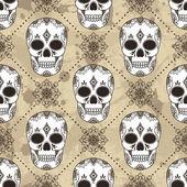 頭蓋骨とパターン — ストックベクタ
