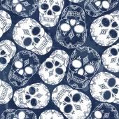 Pattern with  skulls — Stock Vector