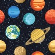 Seamless pattern from solar system planets — Stock Vector #57111993
