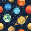 Seamless pattern from solar system planets — Stock Vector #57112091