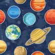 Seamless pattern from solar system planets — Stock Vector #57112105