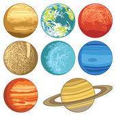 Solar system planets — Stock Vector