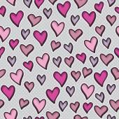 Wzór z hearts-valentine — Wektor stockowy