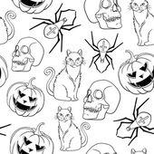 Halloween holiday pattern — Stock Vector