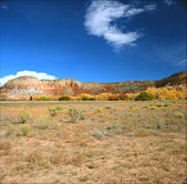 Red Rock Formations and High Desert Landscape - Ghost Ranch, Abiqui, New Mexico — Stock Photo