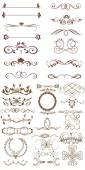 Vector set: calligraphic design elements and page decoration - l — Stock Vector