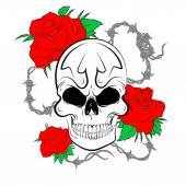 Pirate schedel — Stockfoto