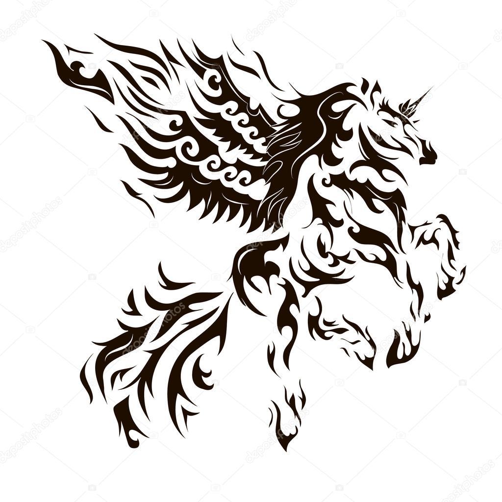 картинки тату лошади