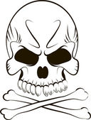 Skull on white background — Stock Vector