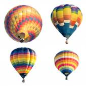 Set of colorful hot air balloon isolated on white background — Stock Photo