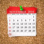 November 2014  Calendar — Stock Photo