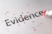 Erasing Evidence — Stock Photo