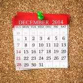 December 2014  Calendar — Stock Photo