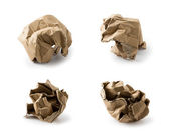 Wrinkled cardboard box collection — Foto de Stock