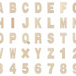 Wooden Alphabet and Numbers Collection , Clipping path — Stock Photo #62903989