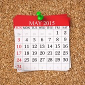 May 2015  Calendar — Stock Photo