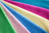 Bath colorful towels  — Stock Photo