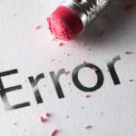 Erasing Error — Stock Photo #65091957