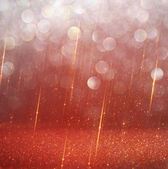 Red and gold abstract bokeh lights  defocused background — Stock Photo