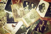 Antique vintage photographs — Stock Photo