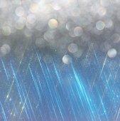Glitter vintage ışıklar arka plan. açık mavi ve siyah. defocused — Stok fotoğraf