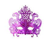 Purple carnival mask isolated on white — Stock Photo