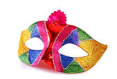 Colorful carnival mask isolated on white — Stock Photo