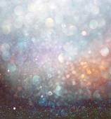 Abstract blurred photo of bokeh light burst and textures. multicolored light. — Stock Photo
