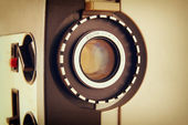 Close up of old 8mm Film Projector lens — Stock Photo