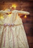 Vintage cream dress — Stock Photo