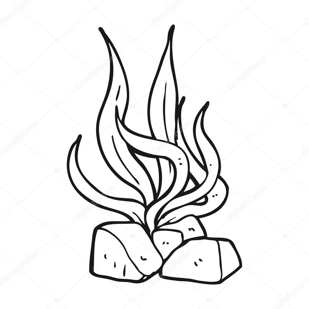 Algas De Dibujos Animados Blanco Y Negro Vector De Stock
