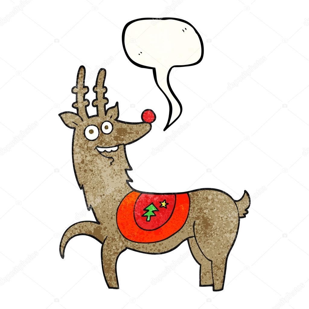 Dibujos De Renos De Navidad. Reno De Navidad En Pauelo Rojo ...