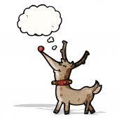 Desenho de rena — Vetorial Stock