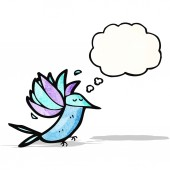 Cartoon hummingbird — Stok Vektör