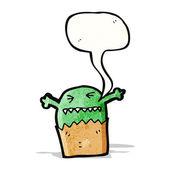 Cartoon small monster — Cтоковый вектор