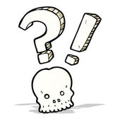混乱して頭蓋骨シンボル — ストックベクタ