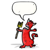 Cartoon little devil — Stock Vector