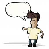 Cartoon talking cool guy — Stock Vector